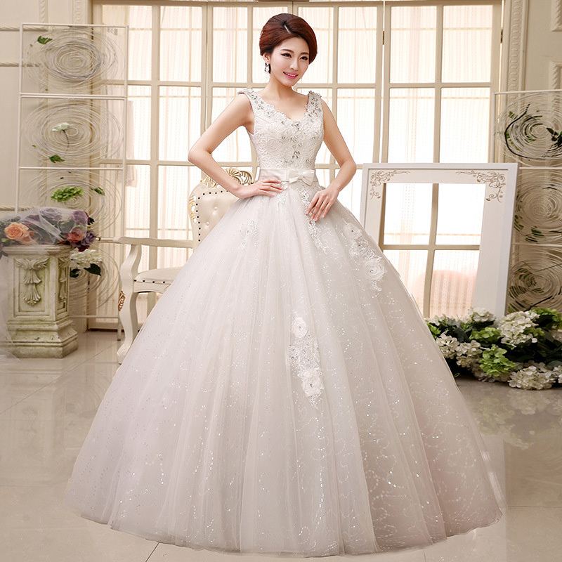 Top Luxury Wedding Dress : Top new special vestido luxury crystal lace bridal wedding dresses