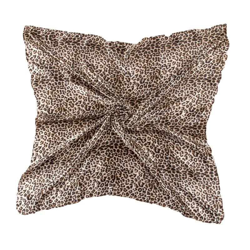 LING/2015 NEW Brown Women Bag Square SILK Scarf,Digital Printing Pashmina,Acrylic Imitation Shawl Wrap,90*90 CM/FJ013(China (Mainland))