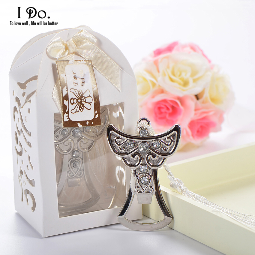 free shipping angel bottle opener wedding favors and gifts wedding gifts for guests wedding. Black Bedroom Furniture Sets. Home Design Ideas