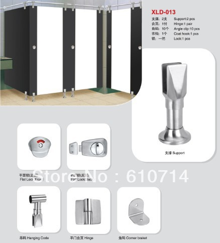 Toilet cubicle hardware fitting-Cast Stainless steel series - Yajan Hardware Co.,Limited store