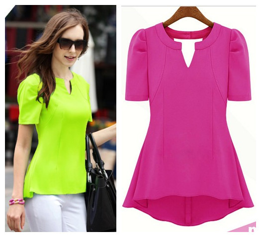 Neon Color t Shirts Shirt Women Neon Tops