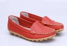 New 2016 Women genuine Leather Shoes Slip-on Ballet women Flats Comfort shoes woman moccasins sapatilhas femininos(China (Mainland))
