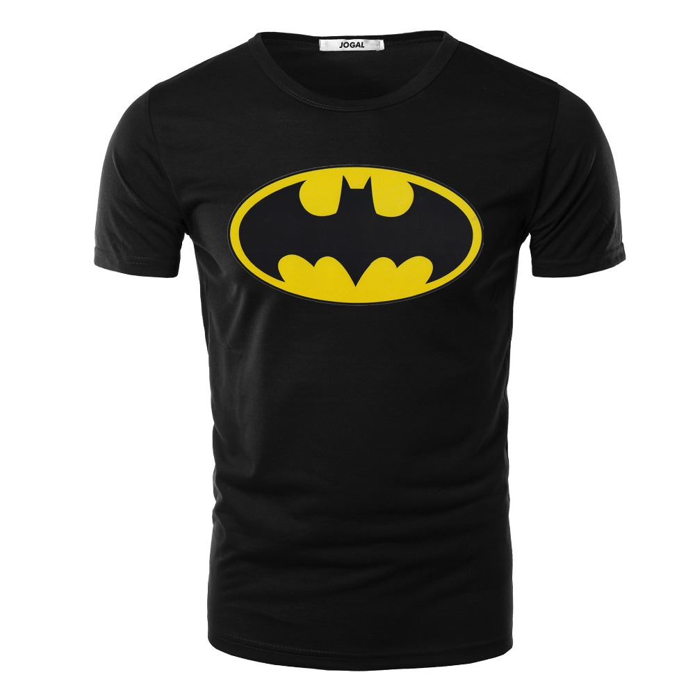 new 2015 summer style batman print short sleeved cotton t shirt tee shirts homme de marque in t. Black Bedroom Furniture Sets. Home Design Ideas