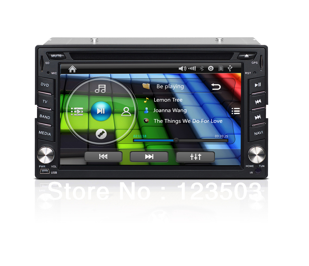 GPS Navi 6.2 Inch Car dvd for universal Bluetooth Car PC 2Din In dash CD Stereo ATV Radio Ipod with Wifi Sulf Internet(China (Mainland))