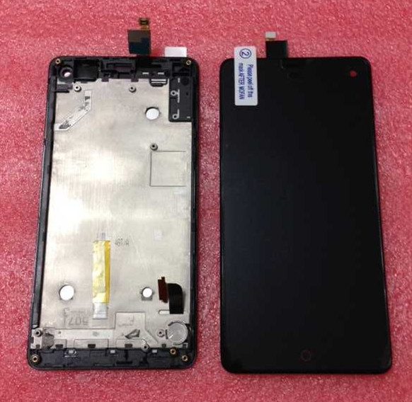 Lcd screen display+Touch screen digitizer with frame For  ZTE Nubia Z7 Mini  black free shipping
