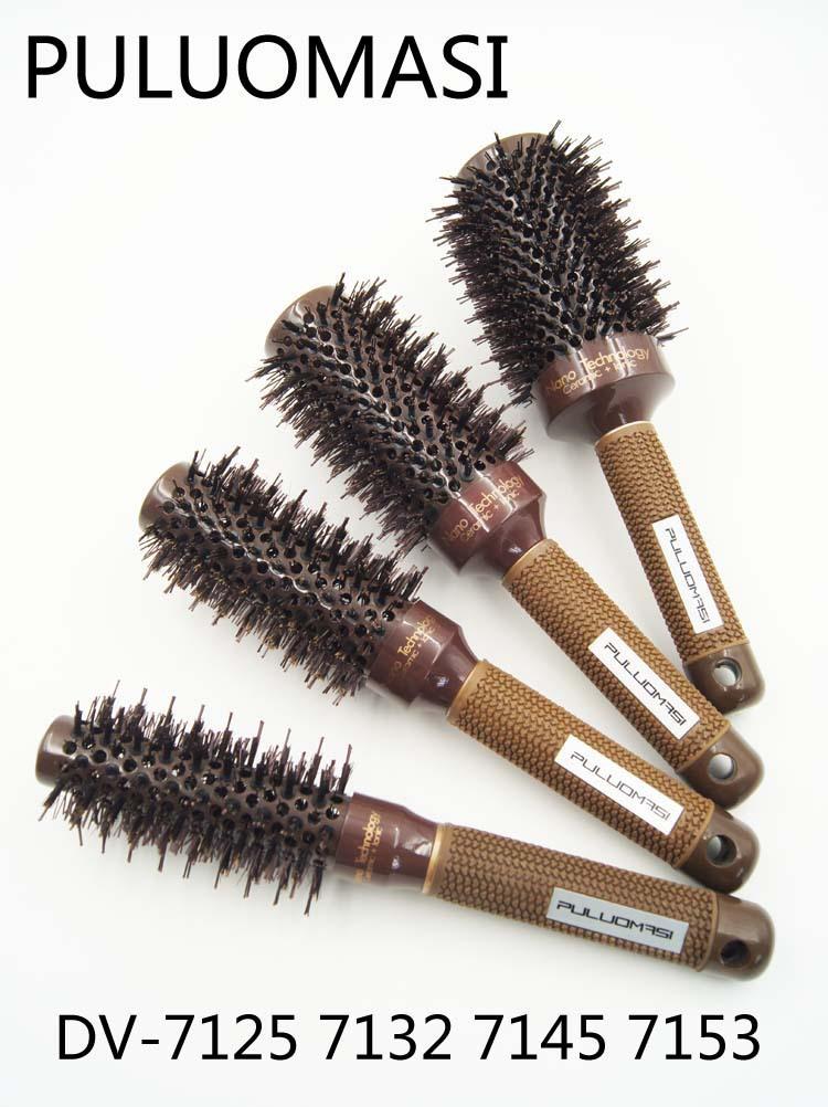 Buy ceramic hair brush barber round for Salon hair brushes