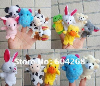 Free Shipping Cartoon Animal Finger Puppet,Finger toy,finger doll,baby dolls,Baby Toys,Animal doll 20pcs/lot (10pcs/bag)