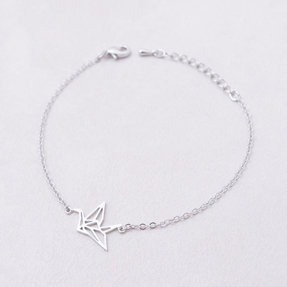 2015 Hollowed Paper Crane Bracelets in Silver Gold Plating of Bracciale Uomo for Wholesale(China (Mainland))