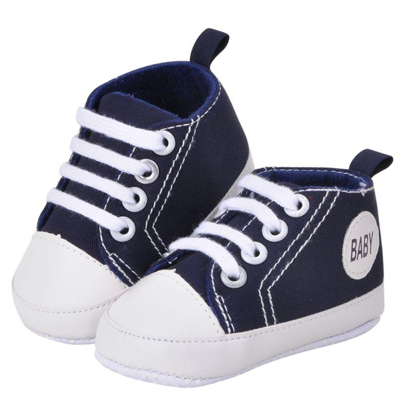 Unique Infant 0-18Months Unisex Baby Boy Girls Soft Sole Crib Cotton Shoes Casual Lace Prewalkers 11 12 13