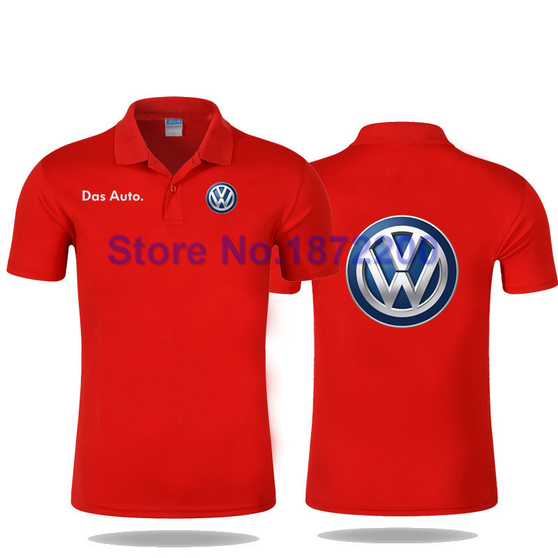 Volkswagen 4s shop standard tooling custom polo shirt for women and men cultivating cotton clothes(China (Mainland))