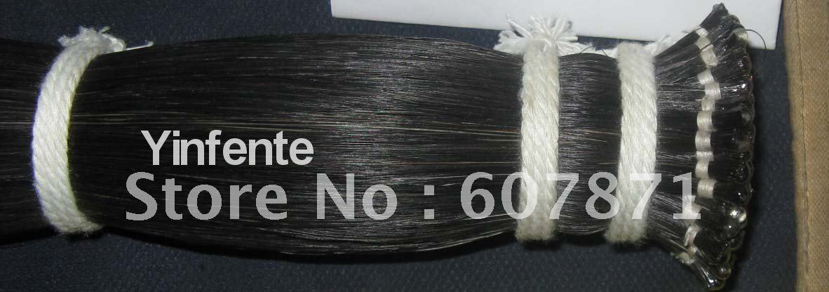 Фотография 500g 95cm black bow horse hair natural mongol #7