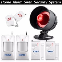Buy Easiest Design Wireless Security Alarm System PIR Motion Detector home alarm system wireless Remote Control wireless alarm for $31.95 in AliExpress store