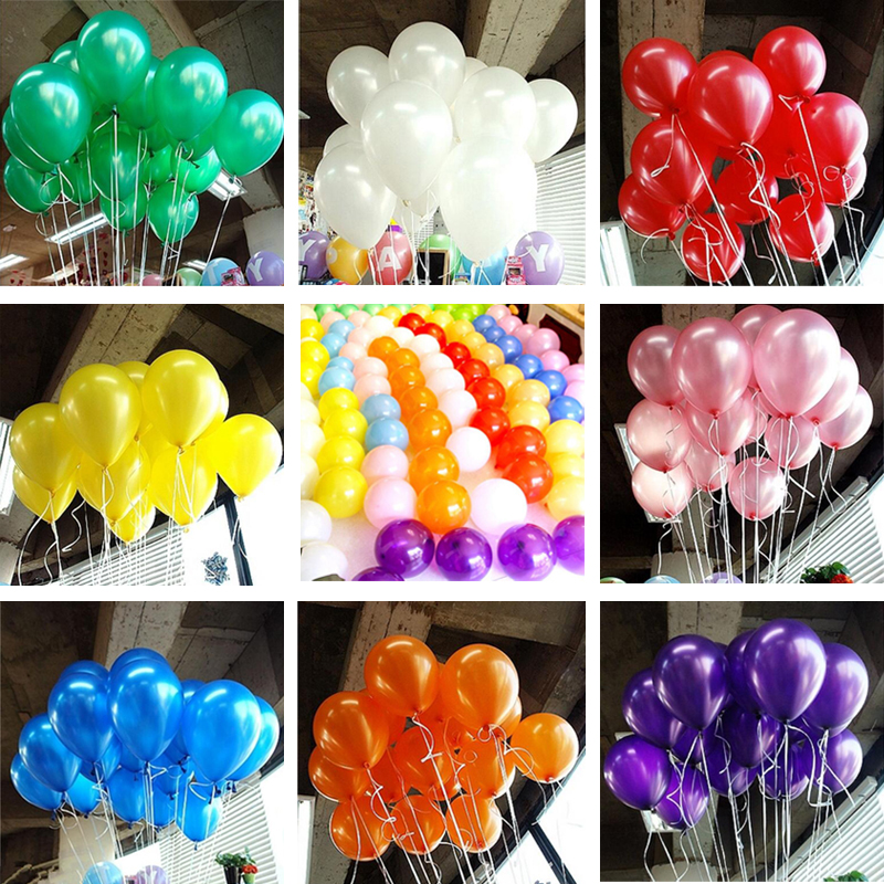Hot 10pcs/lot 10inch Pearl Balloon Air Balls Inflatable Wedding Party Decoration Birthday Kid Party Float Balloons Kids Toys(China (Mainland))