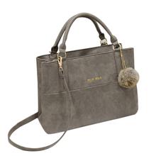 Vintage suede fashion handbags Crossbody fur ball decoration female baodan shoulder bag(China (Mainland))