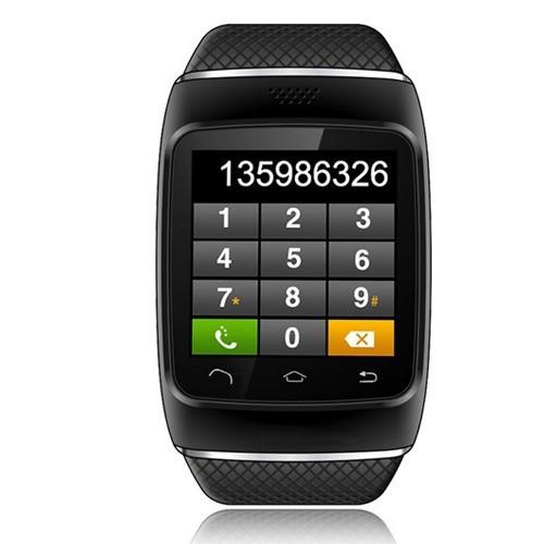 ถูก บลูทูธซิงค์ป้องกันการสูญเสียสัมผัสดูสมาร์ทสำหรับip hone A Ndroid G-Sensor Pedometer 1.54นิ้วหน้าจอCapacitive FMวิทยุสนับสนุน