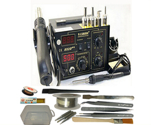 220V/110V SAIKE 852D++ 2in1 Hot Air Gun & Desoldering Station Upgrade from 852D+ with Supply Air Gun Rack and Many Gifts
