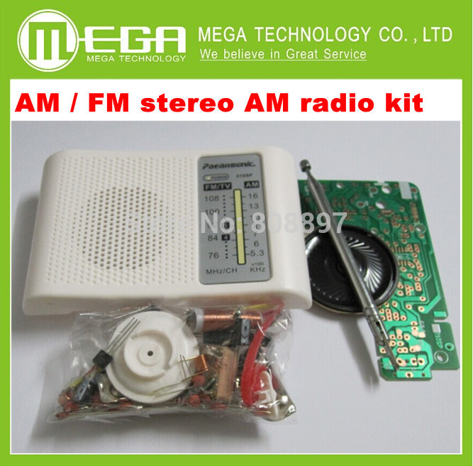 Free Shipping 1set AM / FM stereo AM radio kit / DIY CF210SP electronic production suite