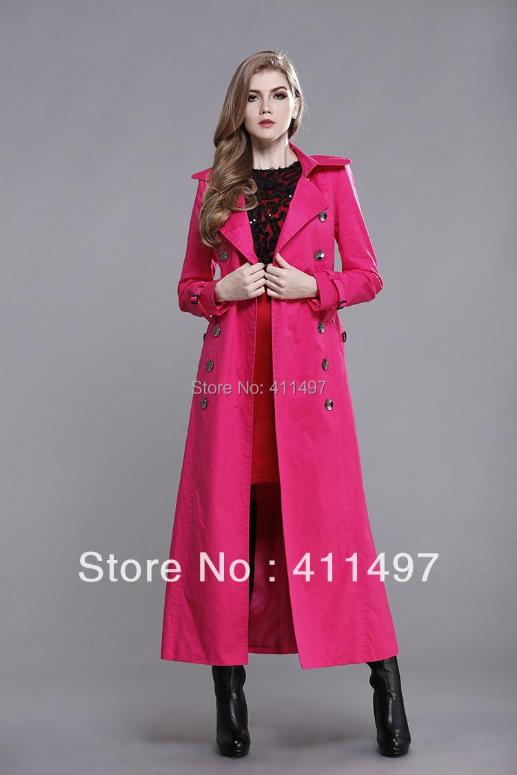 Shop Floor Coating Floor Length Trench Coat