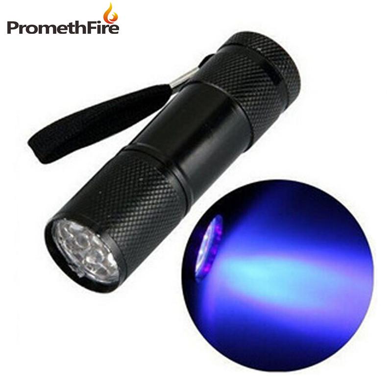 Mini Aluminum Portable UV Ultra Violet Blacklight 9 LED uv Flashlight Torch Light Lamp flashlight lampe torche ultraviolet(China (Mainland))