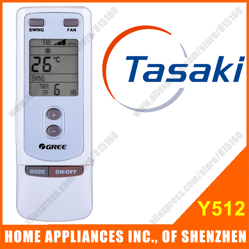 Tasaki Split &amp; Portable Air Conditioner Remote Control Replacement Y512 Compatible with GREE Air Conditioner Remote Control<br><br>Aliexpress