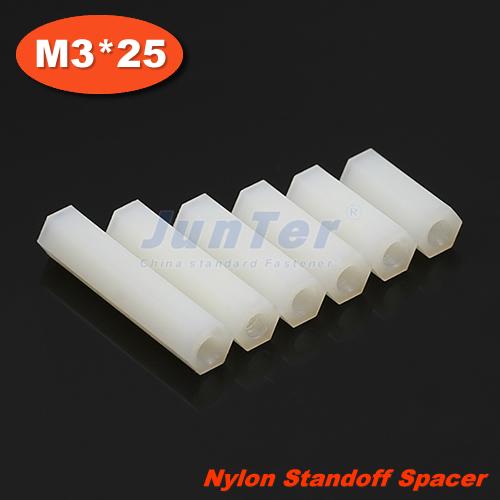 500pcs/lot Nylon Standoff Spacer M3 Female x M3 Female 25mm<br><br>Aliexpress