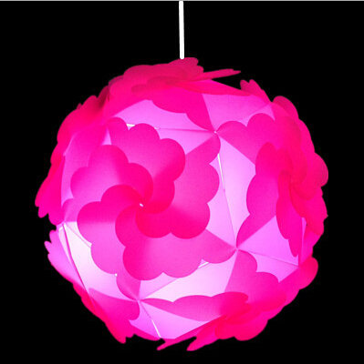 DIY Modern Ball novel IQ puzzle lamp pendants pink/orange/blue/green color pendant lights,size 30cmDY-1142(China (Mainland))