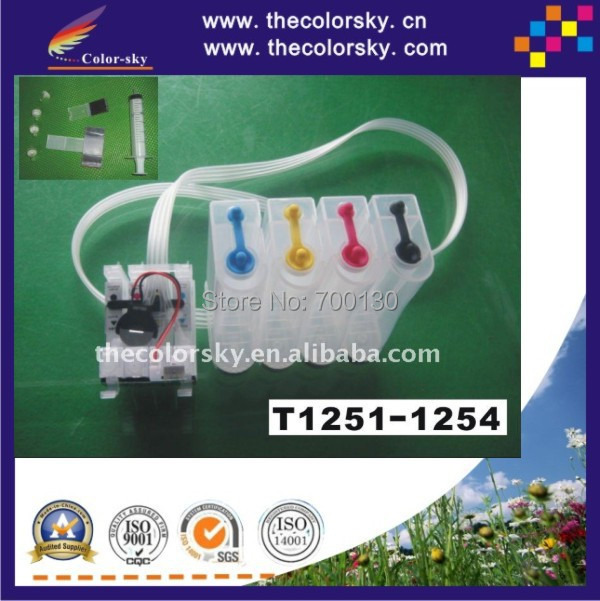 (CISSE1251) CISS T1251/T1252/T1253/T1254 for Epson Stylus NX125/NX625 Workforce 520/320/323/325 free shipping by DHL