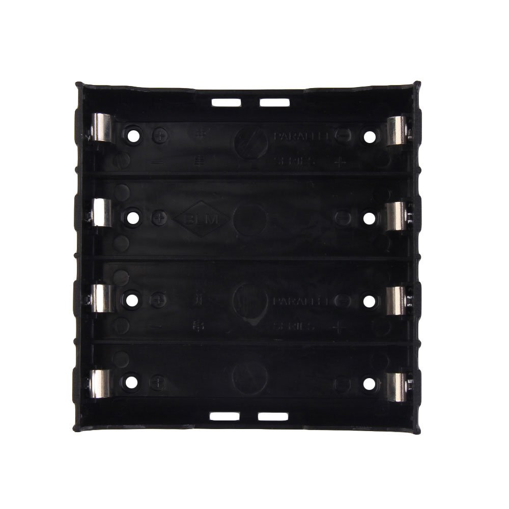 Battery Box Holder Batteries Case For 4x 18650 In Parallel 3.7V Pole B