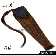 "Human Hair Ponytails 18"" 22"" 60g/pack New Arrival Black Brown Blonde Color Brazilian Virgin Remy Ponytails Hair Extensions(China (Mainland))"