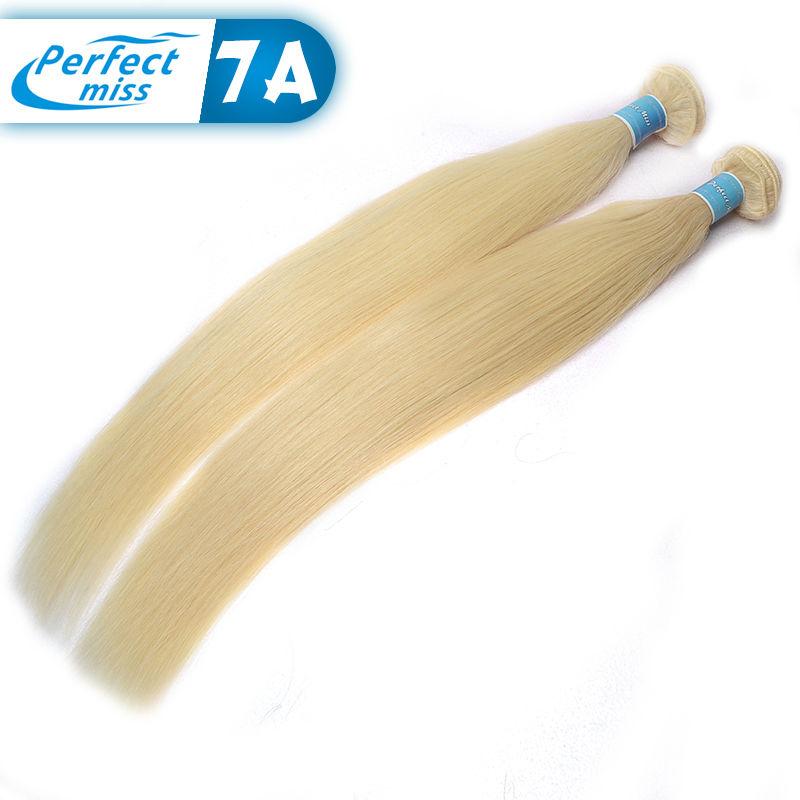 Top Blonde Brazilian Hair Straight 4 Bundle Deals 613 Blonde Virgin Hair Platinum Blonde Virgin Hair Honey Blonde Brazilian Hair(China (Mainland))