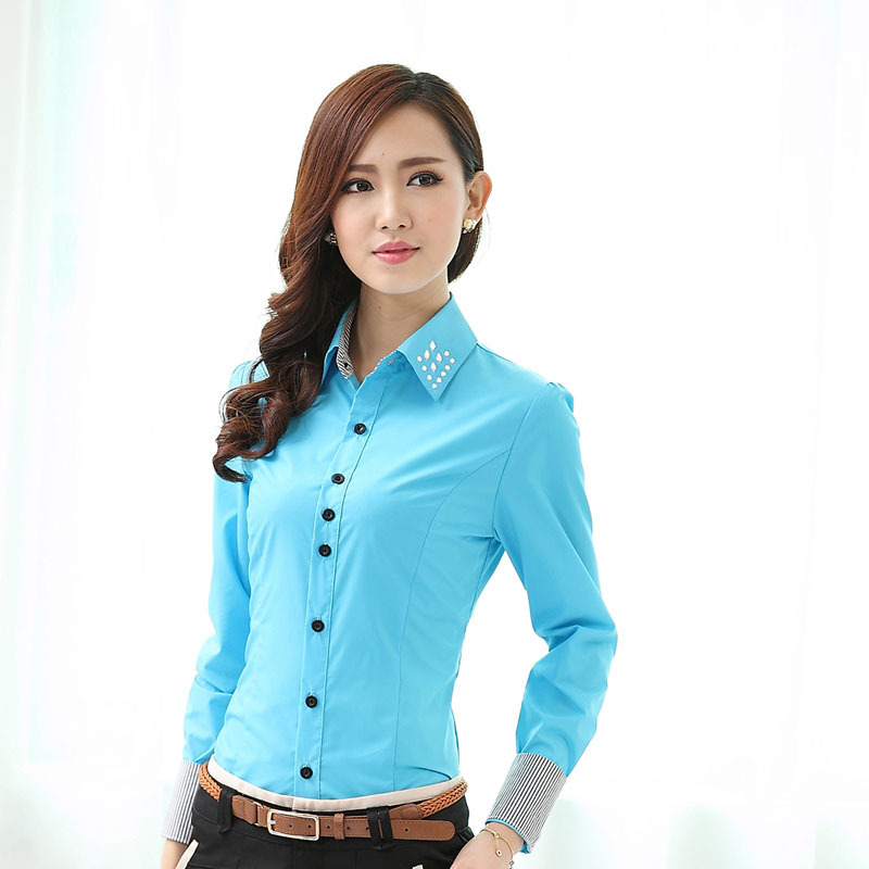 Cool  Down Office Shirt Women Workwear Ladies Style Women Office Clothes
