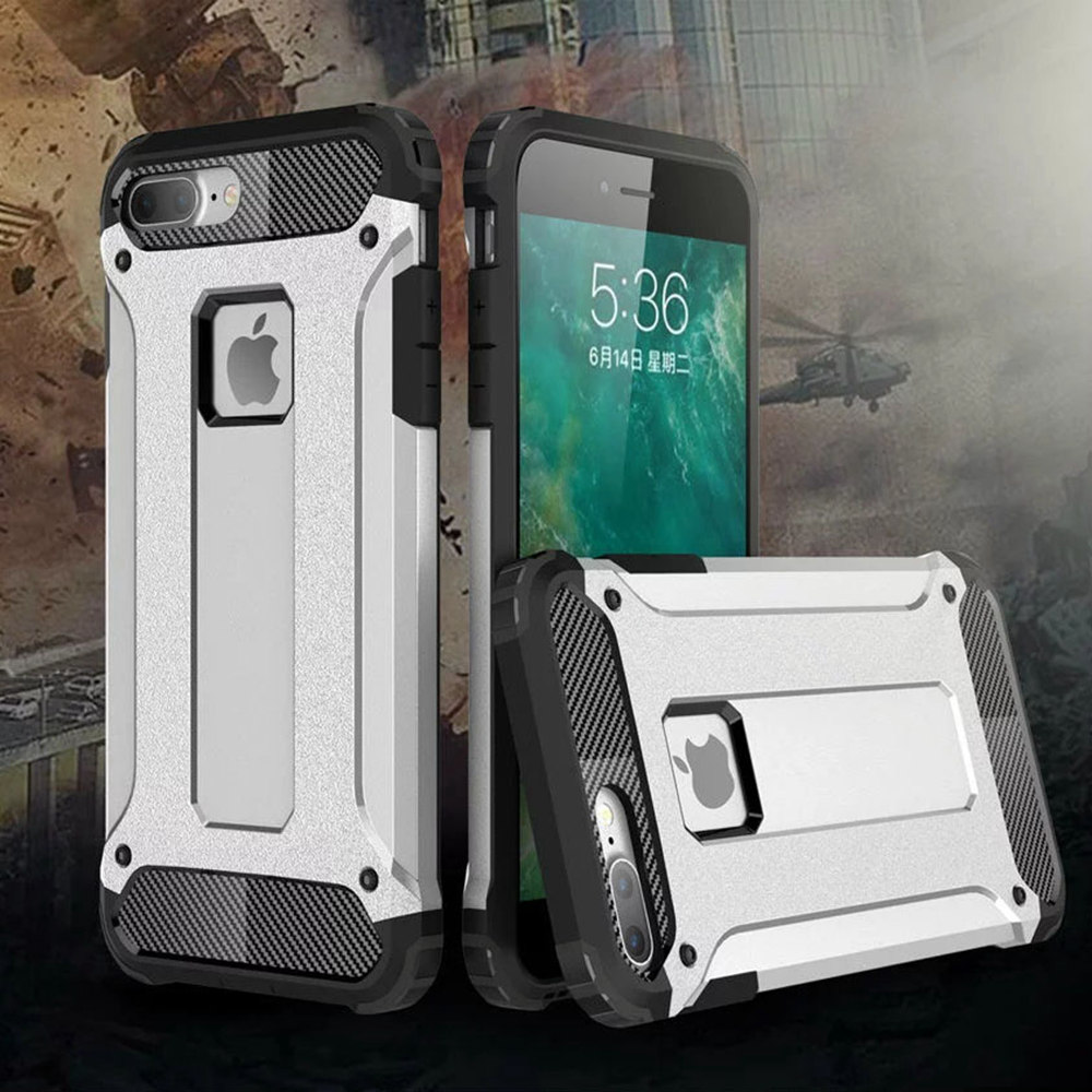 Dual Layer Armor Shockproof Dirtproof Hybrid Protective Soft Rubber Hard Back Case Cover For iPhone 5 5s 6 6s Plus SE 7 Plus(China (Mainland))