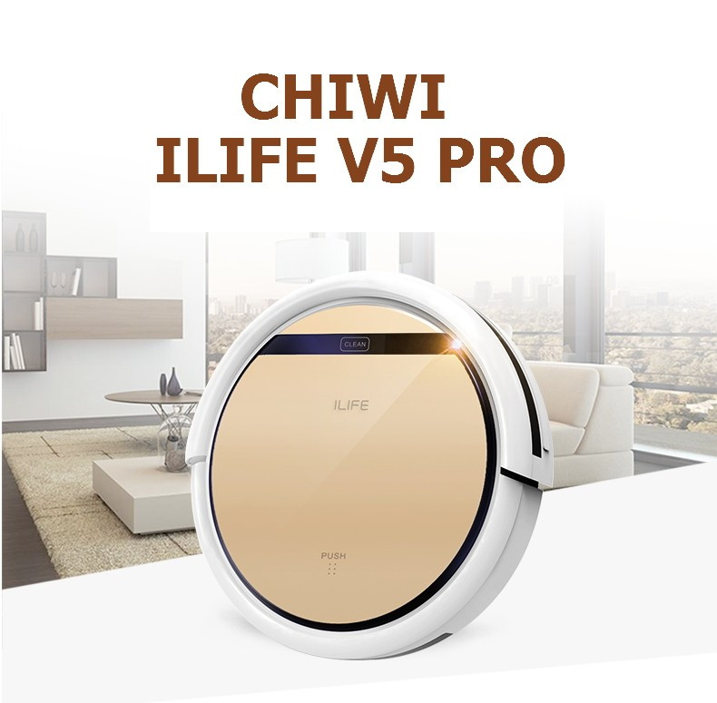 ILife V5 Pro CHUWI Intelligent Mop Robot Vacuum Cleaner Golden lid HEPA Filter Sensor household Cleaning Machine for Home(China (Mainland))