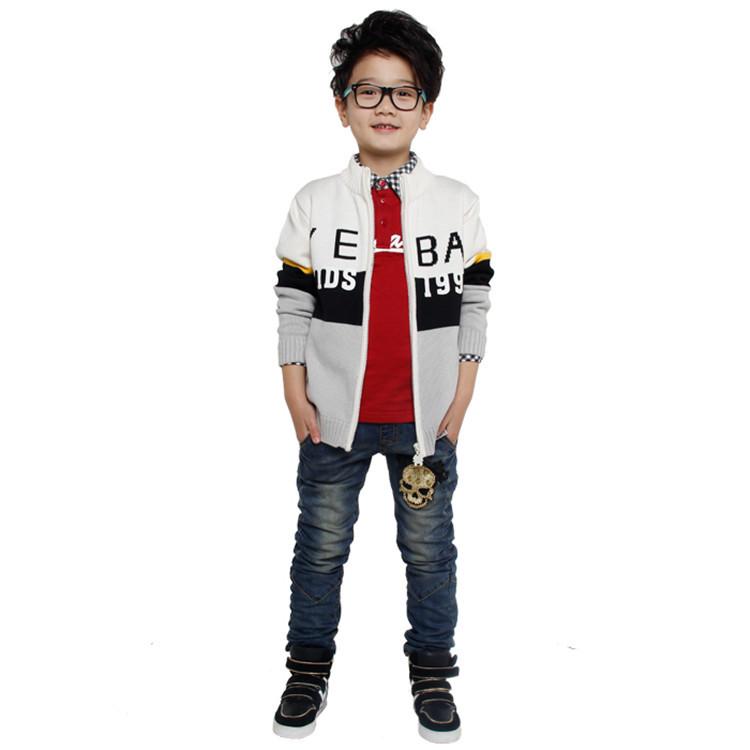 2015 spring and autumn new styles children's sweater coat little boys fashion long sleeve cardigan sweater coat YBA51871(China (Mainland))