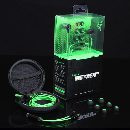 Razer Hammerhead Pro Ear Earphone&Headphone Microphone+Retail Box Gaming Headset Noise Isolation Stereo Bass 3.5mm - Love the beauty of shop store
