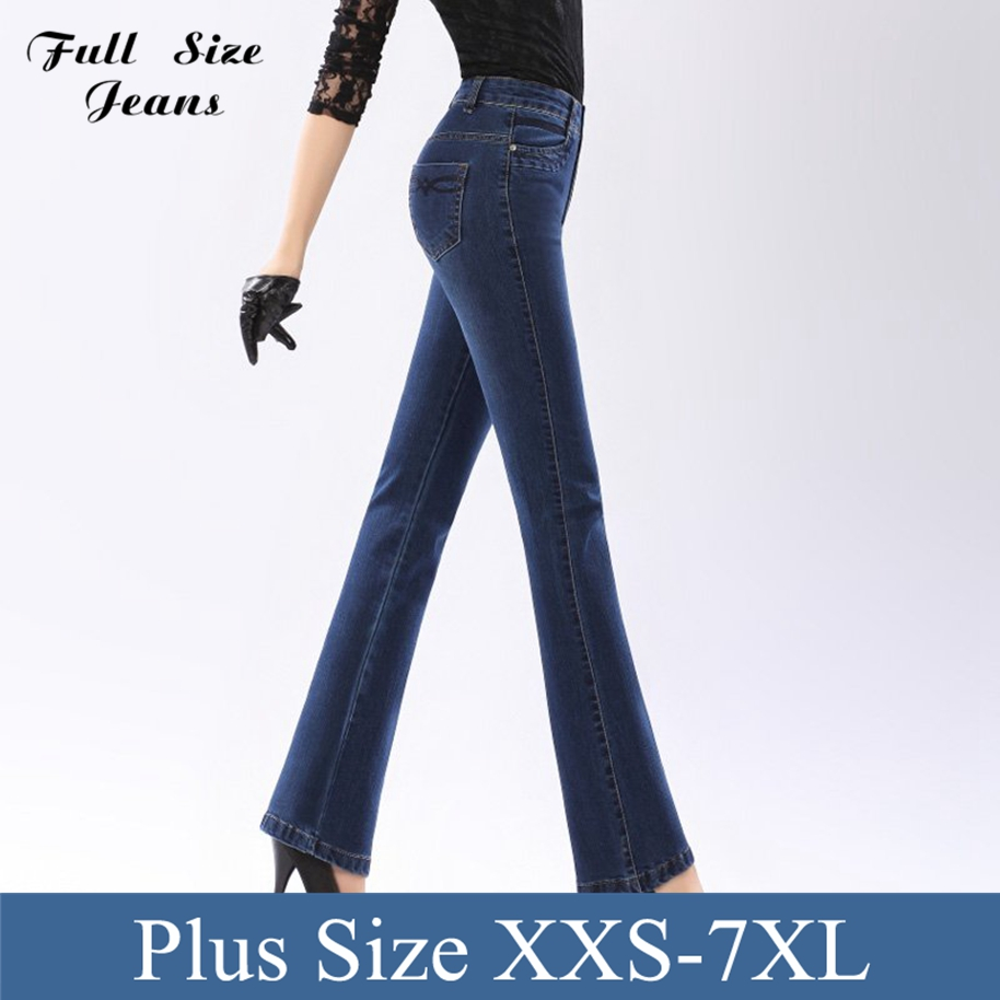 Plus Size Stretch Flare Jeans - Xtellar Jeans