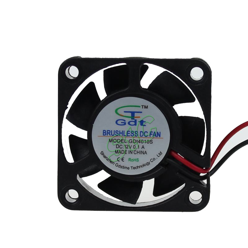 10PCS/LOT GDT DC 12V 2P 4cm 40x40x10 40mm 4010 Small Brushless Cooling Cooler Fan(China (Mainland))