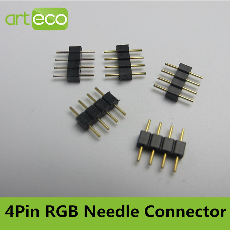 100pcs/lot,4pin RGB connector ,copper pin 10mm ,middle connector,4pin connector<br><br>Aliexpress