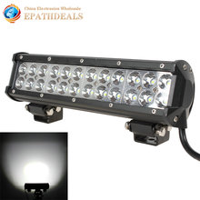 12 Inch 12V 24V Cree LED Work Light Bar Waterproof 5760LM 72W LED Worklight Lamp for