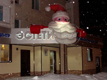 X026   5m Designed fashion promotion gift easter decoration inflatable christmas Santa Claus with LED Light(China (Mainland))