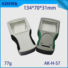 1 piece, 134*70*31mm szomk lcd display plastic box for electronics project high quality abs handheld small plastic control box(China (Mainland))