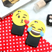 Cute cartoon smiley face phone case for iPhone6/iPhone6 plus Wave pattern phone shell as gifts universal for iPhone freeshipping