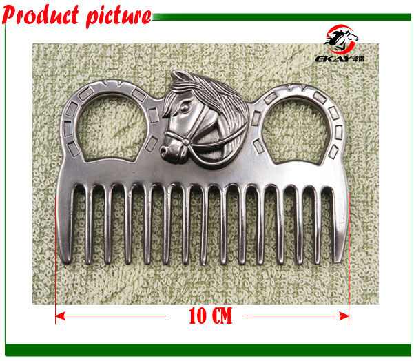 Free shipping Aluminum horse comb ,hand polished.Never rusted,horse grooming accessory(CB9050)(China (Mainland))