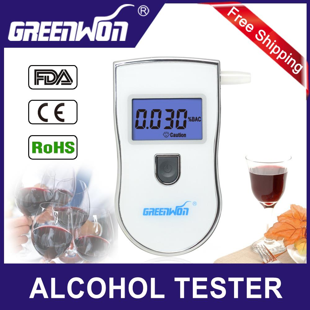 2015 new patent portable digital mini breath alcohol tester wholesales a breathalyzer test with 5 mouthpiece AT818 Free shipping(China (Mainland))