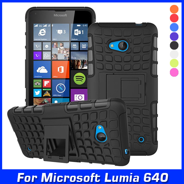 Luxury Hybrid TPU Shock Proof Silicone + Hard Shell Cell Phone Case Cover For Microsoft Lumia 640 Lte Dual Sim Case Back Cover(China (Mainland))
