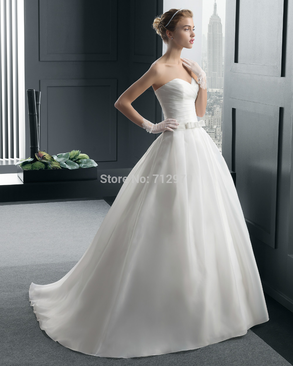 ... white ivory Wedding dress Bridal Gown Hochzeitskleid robe de mariee
