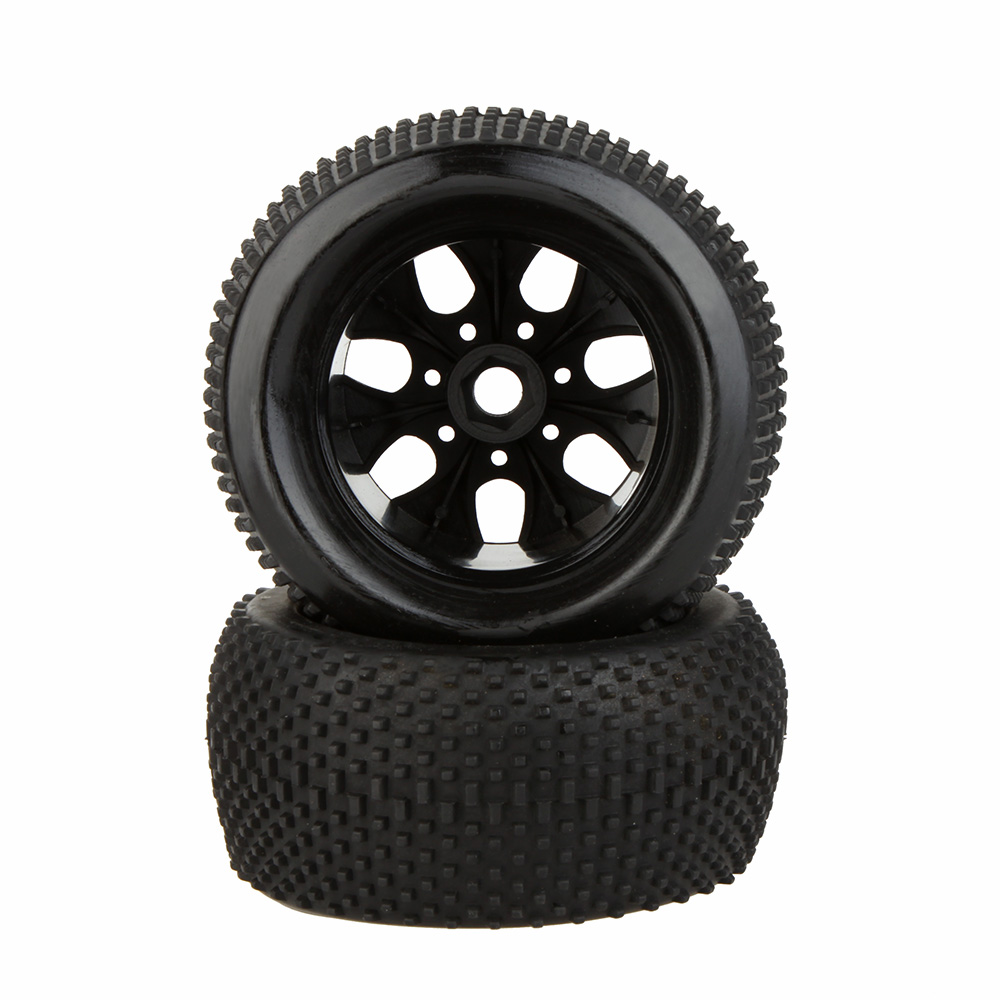 2Pcs 1/8 RC Truck Car Wheel Rim and Tire 810011 for Traxxas HSP Tamiya HPI Kyosho RC Car Part(China (Mainland))