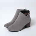 Nubuck Leather women boots fashion Height Increasing Slip-On Round Toe Ankle boots Mixed Colors winter snow boots women shoes