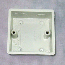 wall mount junction box, type 86, UK outlet wall switch box,enclosure,flush box, plastic back box for mansory wall(China (Mainland))