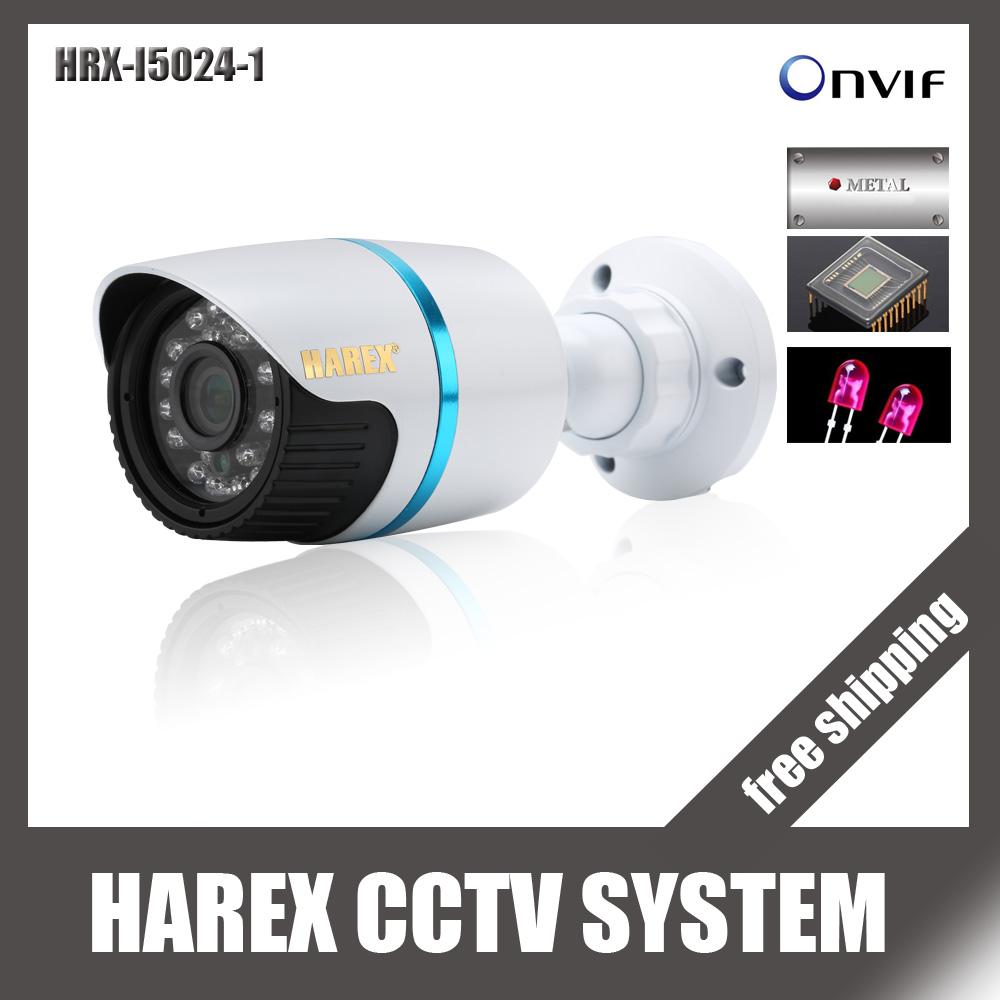 1280*720P 1.0MP Mini Bullet IP Camera ONVIF Waterproof Outdoor IR CUT Night Vision P2P Plug and Play, free shipping(China (Mainland))
